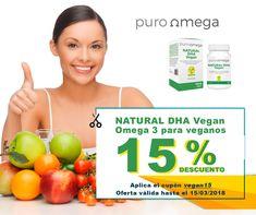 Natural DHA Vegan, un producto nuevo de Puro Omega, viene a completar la gama de productos de Puro Omega dando respuesta a las necesidades de las personas vegetarianas y veganas y a otras personas que prefieren las algas como fuente de Omega-3. ¡Aprovecha nuestros descuentos!
