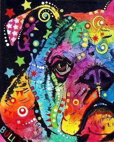 dean Russo Painting Dog Dogs Portrait Graffiti pop Art Pet Etsy Bulldog bull Dog Bullie Bully Painting - Peeking Bulldog by Dean Russo Fine Art Amerika, Paint Your Pet, Bulldog Mascot, Dog Artwork, Dog Portraits, Whimsical Art, Art Pages, Dean Russo, Canvas Art Prints