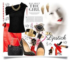 """Red Lipstick Style"" by jeneric2015 ❤ liked on Polyvore featuring Kershaw, J.W. Anderson, Christian Louboutin, Roland Mouret, Rosantica, Marni, House of Harlow 1960, Design Lab and REDLIP"