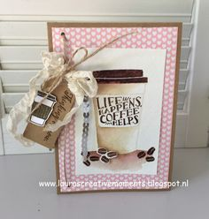 Coffee Café, Stampin' Up! - Life happens, coffee helps