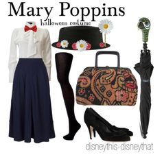 Look familiar?) requested by overtherooftop hallowen costumes , Mary Poppins! Look familiar?) requested by overtherooftop Mary Poppins! Look familiar?) requested by overtherooftop. Costume Halloween, Mary Poppins Halloween Costume, Halloween Stuff, Vintage Halloween, Halloween Makeup, Halloween Party, Disney Costumes, Disney Outfits, Cool Costumes