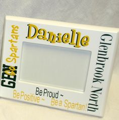 Our school spirit picture frame is customized with their name, school and colors. We love this gift for an 8th grade graduate to get them excited for High School or for current high schoolers, their team members, coaches or advisors. $30