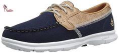 Skechers Go Step Seashore, Chaussures Bateau Femme, Bleu (Nvy), 37.5 EU - Chaussures skechers (*Partner-Link)