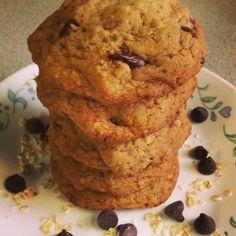 Vegan gluten free oatmeal chocolate chip cookies