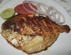 Fried Pomfret Fish Recipe - Pakistani Seafood Dish - Fauzia's Pakistani Recipes - The Extraordinary Taste Of Pakistan