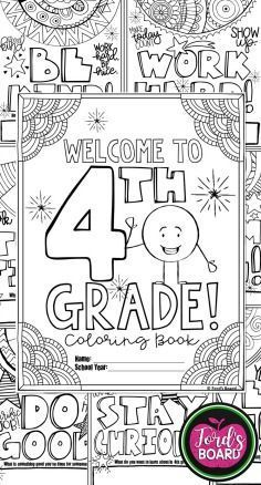 This 4th Grade Back To School Coloring Book Is Designed To Welcome Your New Students With Simple Pos School Coloring Pages School Activities Welcome To School