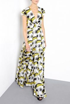 Printed Maxi Dress by Issa