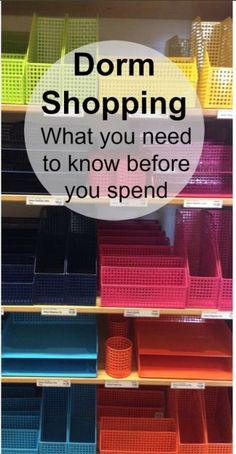 Off to College? Save time and money. 50 Essential Questions to Answer before you go dorm room shopping.