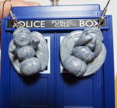 Doctor Who Weeping Angels Earrings. $15.00, via Etsy.
