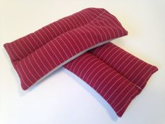 2 Organic Flax or Rice Heating & Cooling Pads Can by redheadnblue