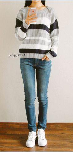 Chic Colorblocked Stripe Knit Sweater#Sweaters#Women Sweaters#Fashion Sweaters#Women Fashion# Autumn Fashion Sweaters#Sweaters On Sale# Fashion Trends#OASAP