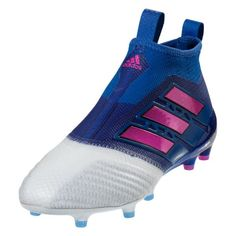 6b523d80e07071 adidas ACE 17+ Purecontrol FG Soccer Cleat (Blue Shock Pink White)