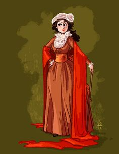 verabee interpreting photos of outfits into drawings of outfits. Based on a painting of La Comtesse Bucquoi (1793)