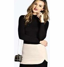 boohoo Aniya Double Layer Crepe Skirt - stone azz21779 Wear this seasons must-have length in style with this colour block mini skirt , designed to flatter with its double layer styling. Dress it down for day with a high neck top , tights and heeled ankle  http://www.comparestoreprices.co.uk/skirts/boohoo-aniya-double-layer-crepe-skirt--stone-azz21779.asp