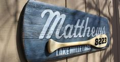 Canoe Paddle Lakehome Sign   Red Barn Creations