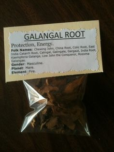 Galangal Root (50% Off Retail Price) - Luck, Money, Protection, Exorcisim & Psychic Development on Etsy, $2.25