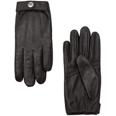 Tab Leather Gloves (1 680 UAH) ❤ liked on Polyvore featuring accessories, gloves, real leather gloves and leather gloves