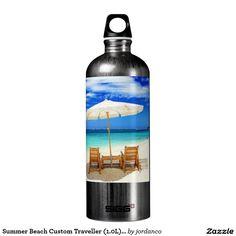 Summer Beach Custom Traveller (1.0L), White SIGG Traveler 1.0L Water Bottle