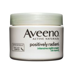 Best Night Cream: Aveeno Positively Radiant Intensive Night Cream. The oil-free formula improved the appearance of brown spots, thanks to a blend of soy and vitamin B3.