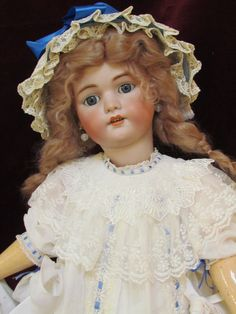 Lovely Antique German Bisque Head Doll