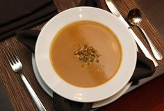 G.L. of New Berlin requested the recipe for a butternut squash bisque she tried at the Bistro Bar 333 restaurant in the Hyatt Regency Milwaukee hotel, 333 W. Kilbourn Ave.