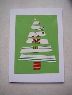 Recycled Christmas card card
