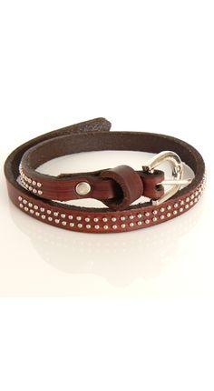 Bruine lederen armband [1230971] - €7,95 : Leuk online sjoppen, De Webshop voor damestassen, handtassen en damesaccesoires