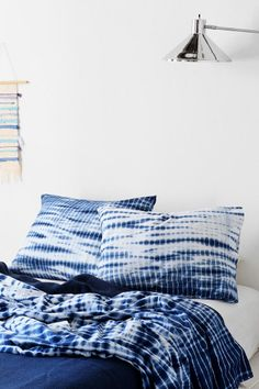 Noodle Indigo Tie-Dye Sham - Set Of 2