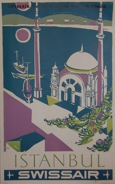 """1930s /""""Istanbul/"""" Vintage Style Turkey Travel Poster 20x30"""