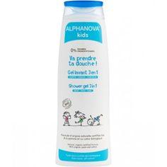 Gel douche moussant 3 en 1 pour le corps, le visage et les cheveux.