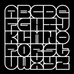 All these alphabets are part of modular experimental fonts with larger sets of glyphs, designed over a number of years, using the online application fontstruct. Graffiti Lettering Fonts, Tattoo Lettering Fonts, Graffiti Alphabet, Creative Lettering, Calligraphy Fonts, Lettering Design, Logo Design, Font Alphabet, Cool Typography