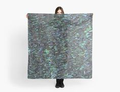 Abalone Shell Scarf | New Zealand Paua Shell Scarf | Scarves | by Eclectic at HeART