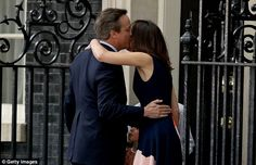 The former Prime Minster's wife planted a loving kiss on her husband's cheek ahead of his official resignation at Buckingham Palace Samantha Cameron, David Cameron, Final Goodbye, Theresa May, Influential People, West London, Buckingham Palace, Three Kids, Love Of My Life