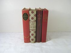Vintage Red BOOKS Instant COLLECTION Set/4   by LavenderGardenCottag Red Books, I Love Books, Cottage Style, My Love, Trending Outfits, Unique Jewelry, Handmade Gifts, Etsy, Collection