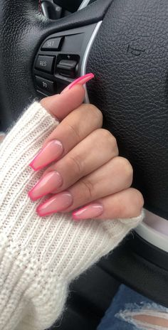 Uploaded by Marⁱe. Find images and videos about girl, pink and nails on We Heart It - the app to get lost in what you love. Uploaded by Marⁱe. Find images and videos about girl, pink and nails on We Heart It - the app to get lost in what you love. Summer Acrylic Nails, Best Acrylic Nails, Acrylic Nail Designs Coffin, Acrylic Nails Coffin Short, Colored Acrylic Nails, Neon Nail Art, French Acrylic Nails, Spring Nails, Nail Swag