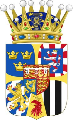 Coat of Arms of Princess Louise as Crown Princess of Sweden. She was born HSH Princess Louise of Battenberg daughter of Prince Louis of Battenberg and Princess Victoria of Hesse and by Rhine Princess Louise, Princess Alice, Princess Margaret, Army Symbol, Louise Mountbatten, Hesse, Royal Australian Navy, Swedish Royalty, Plantagenet