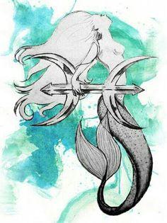 Watercolor mermaid tattoo   Janee Negron