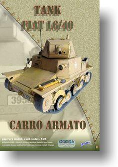 Papírový model - Tank Fiat L6/40