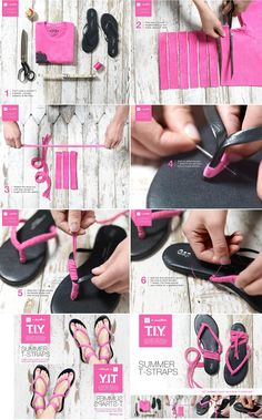 DIY Flip Flops Refashion: DIY Gap Flip Flops Makeover