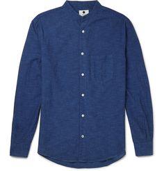 NN07 - Devon Grandad-Collar Cotton Shirt