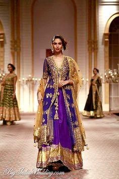 Preeti S Kapoor purple lehenga THE COLOUR....reminds me of didi tera devar deewana madhuri's lehnga