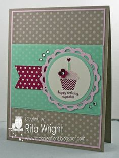 Fabulous Friday Cupcake by kyann22 - Cards and Paper Crafts at Splitcoaststampers