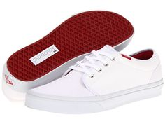 Vans 106 Vulcanized (Ripstop) True White/Chili Pepper - 6pm.com