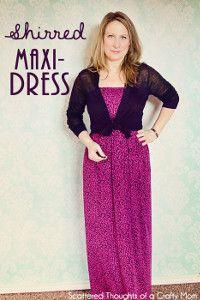 Lady's Shirred Maxi Dress | AllFreeSewing.com