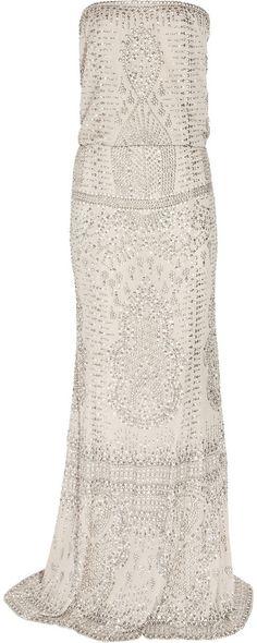 Kaufman Franco KAUFMANFRANCO Embellished silk-chiffon gown on shopstyle.com