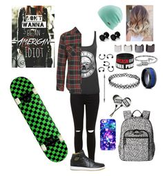 """Dont wanna be an american idiot"" by skatergurl58 ❤ liked on Polyvore featuring Miss Selfridge, Topshop, NIKE, Coal, Luv Aj, Alex and Ani, Vera Bradley and Casetify"