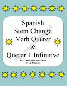 Spanish Querer & Querer + Infinitive Sentences product from Sue Summers on TeachersNotebook.com