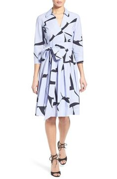 Ivanka Trump Abstract Print Cotton Dress available at #Nordstrom