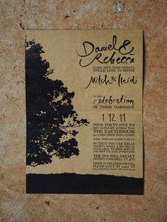 Wedding Invitations (Bec & Dan Shaw) inside. Designed by Leah McLaughlin. http://www.leahmclaughlin.com.au/