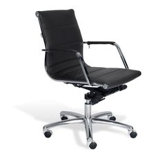 Black Sofia Low Back Office Chair